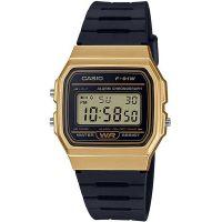 Casio Uhr F-91WM-9AEF Digital Armbanduhr Herren Damen Schwarz Gold NEU & OVP