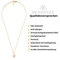 Mendozza Kette MJ-NE02150L Damen-Kette Schloss Anhänger Gold