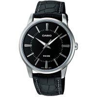 Casio Uhr MTP-1303PL-1A Herren Armbanduhr Leder Silber Schwarz Watch NEU & OVP