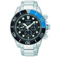Seiko Uhr SSC017P1 Taucheruhr Herren Solar Chronograph Blau Schwarz NEU & OVP
