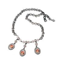 Dolce&Gabbana Kette DJ0257 ROMANTIC Damen Edelstahl Silber Strass NEU & OVP