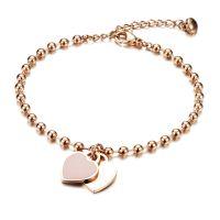 Mendozza Armband MJ-BR03001L Damen Roségold Herz Anhänger