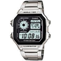 Casio Uhr AE-1200WHD-1A Digitaluhr Armbanduhr Herren Edelstahl Schwarz NEU & OVP