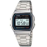 Casio Uhr A158WA-1DF Retro Digitaluhr Silber Schwarz B-WARE mit Gebrauchsspuren