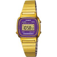 Casio Uhr LA670WGA-6DF Digital Damen Armbanduhr Gold Lila Violett Watch NEU & OVP
