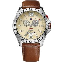 Tommy Hilfiger Uhr 1790973 Herrenuhr Braun Silber Leder Men Watch NEU & OVP