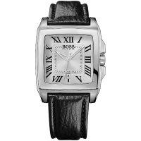 Hugo Boss Uhr 1512497 Herrenuhr Schwarz Silber Leder Men Watch Silver NEU & OVP