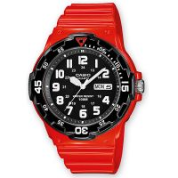 Casio Uhr MRW-200HC-4B Herren Damen Armbanduhr Rot Schwarz Sport Watch NEU & OVP