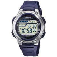 Casio Uhr W-212H-2AVES Herren Digitaluhr Armbanduhr Blau Silber Watch NEU & OVP