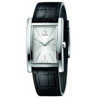 Calvin Klein Uhr K4P211C6 Refine Herren Leder Schwarz Swiss Made NEU & OVP