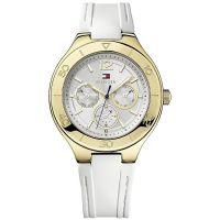 Tommy Hilfiger Uhr 1781329 Damenuhr Gold Weiß Lady Armbanduhr NEU & OVP