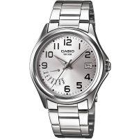 Casio Herrenuhr MTP-1369D-7B Armbanduhr Edelstahl Silber Schwarz watch NEU & OVP