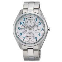 Seiko Uhr SRL051P1 Damen Chronograph Edelstahl Silber Datum Watch NEU & OVP
