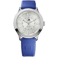 Tommy Hilfiger Uhr 1781285 Ellery Damenuhr Blau Silber Silikon Watch NEU & OVP