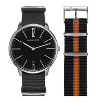 Pierre Cardin Uhr PC106991F12 La Gloire Herren Damen Textil Schwarz NEU & OVP