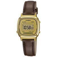 Casio Collection Uhr LA670WEGL-9EF Digital Damen Armbanduhr Leder Gold NEU & OVP