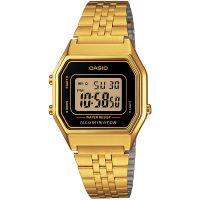 Casio Collection Digitauhr LA680WGA-1DF Armbanduhr Damen Schwarz Gold NEU & OVP