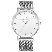 Mendozza Uhr MW-RS0100H-SM White Moon Armbanduhr Silber Weiß