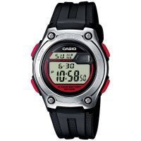 Casio Uhr W-211-1BVES Herren Damen Digital Armbanduhr Schwarz Rot NEU & OVP