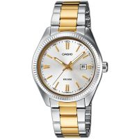Casio Uhr LTP-1302PSG-7A Damen Armbanduhr Edelstahl Silber Gold Datum NEU & OVP