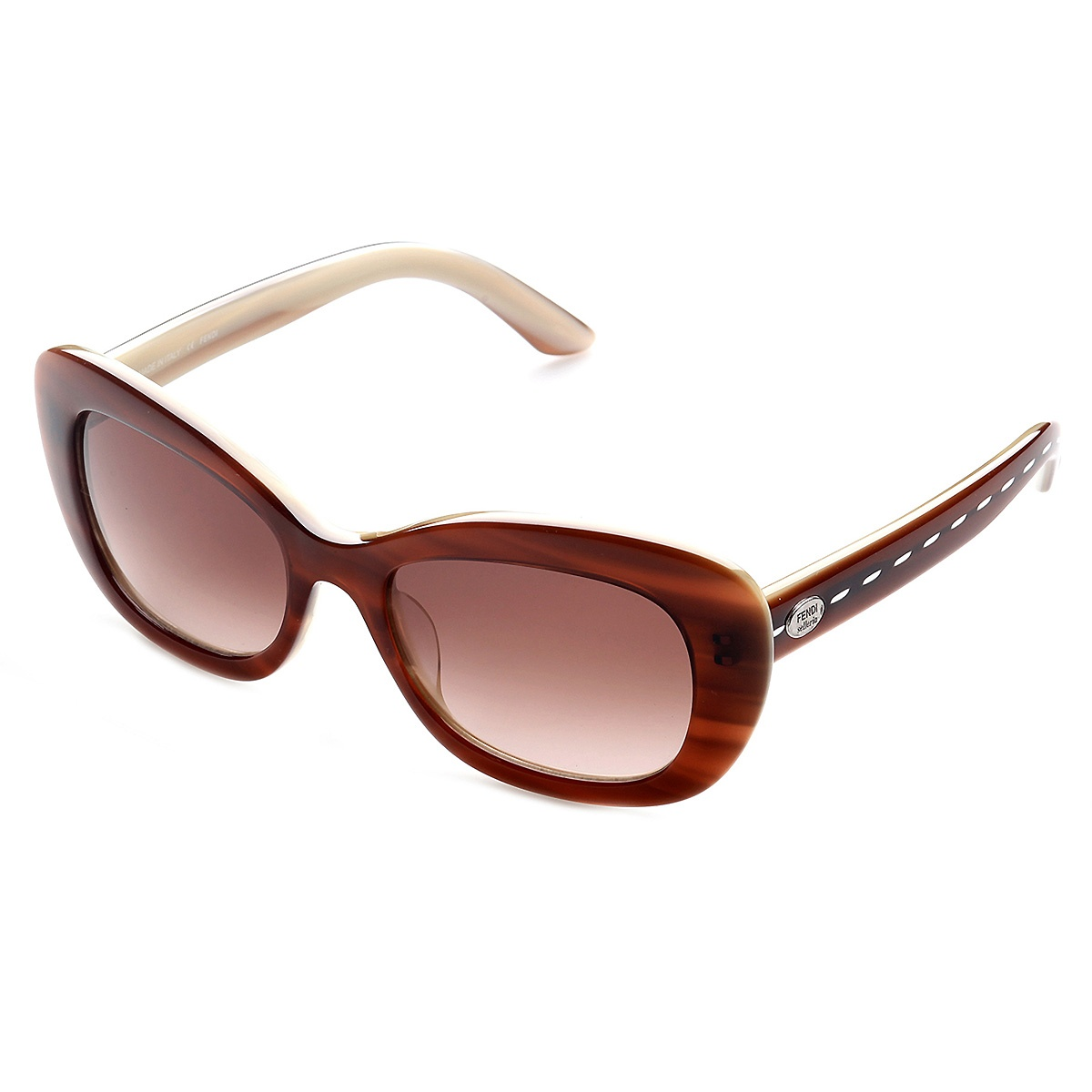 Details zu Fendi Sonnenbrille FS5216_227 Damen Braun Cateye Sunglasses Women NEU & OVP