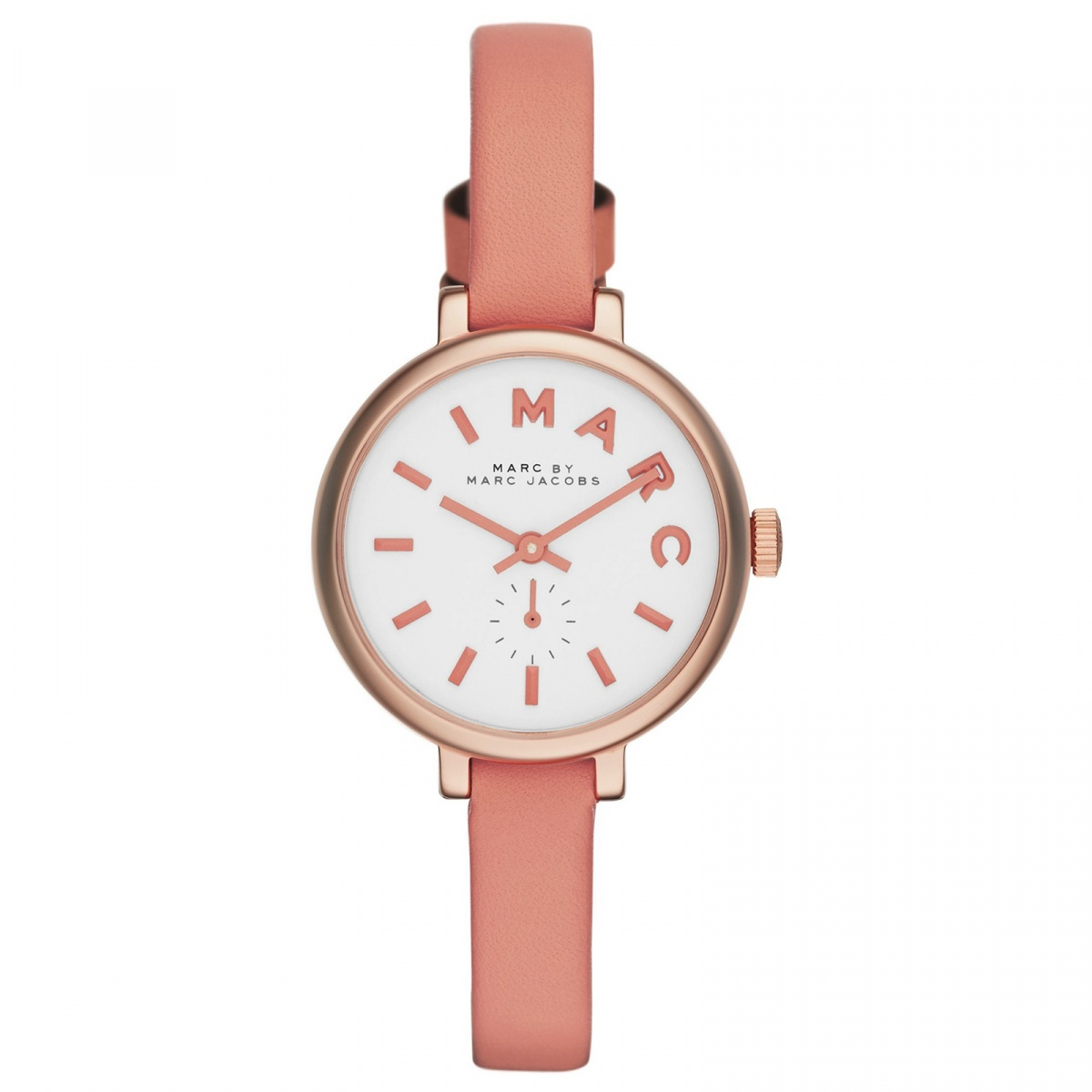 Marc by Marc Jacobs Uhr MBM1355 Sally Damen Leder Gold Rosa Weiß ...
